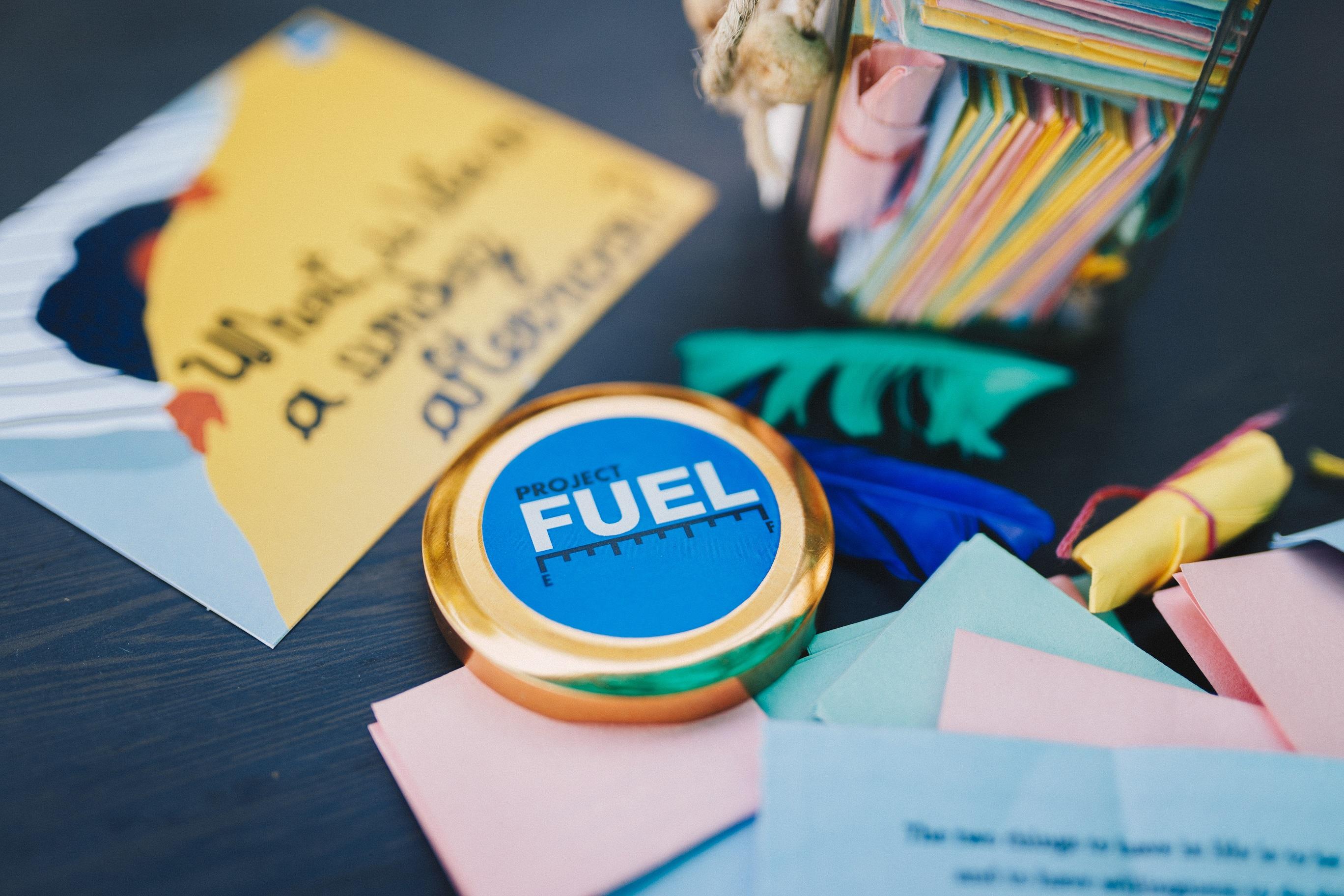 life lessons jar, Adult journal, student journal, Project FUEL journal, ProjectFUEL jar, Deepak ramola